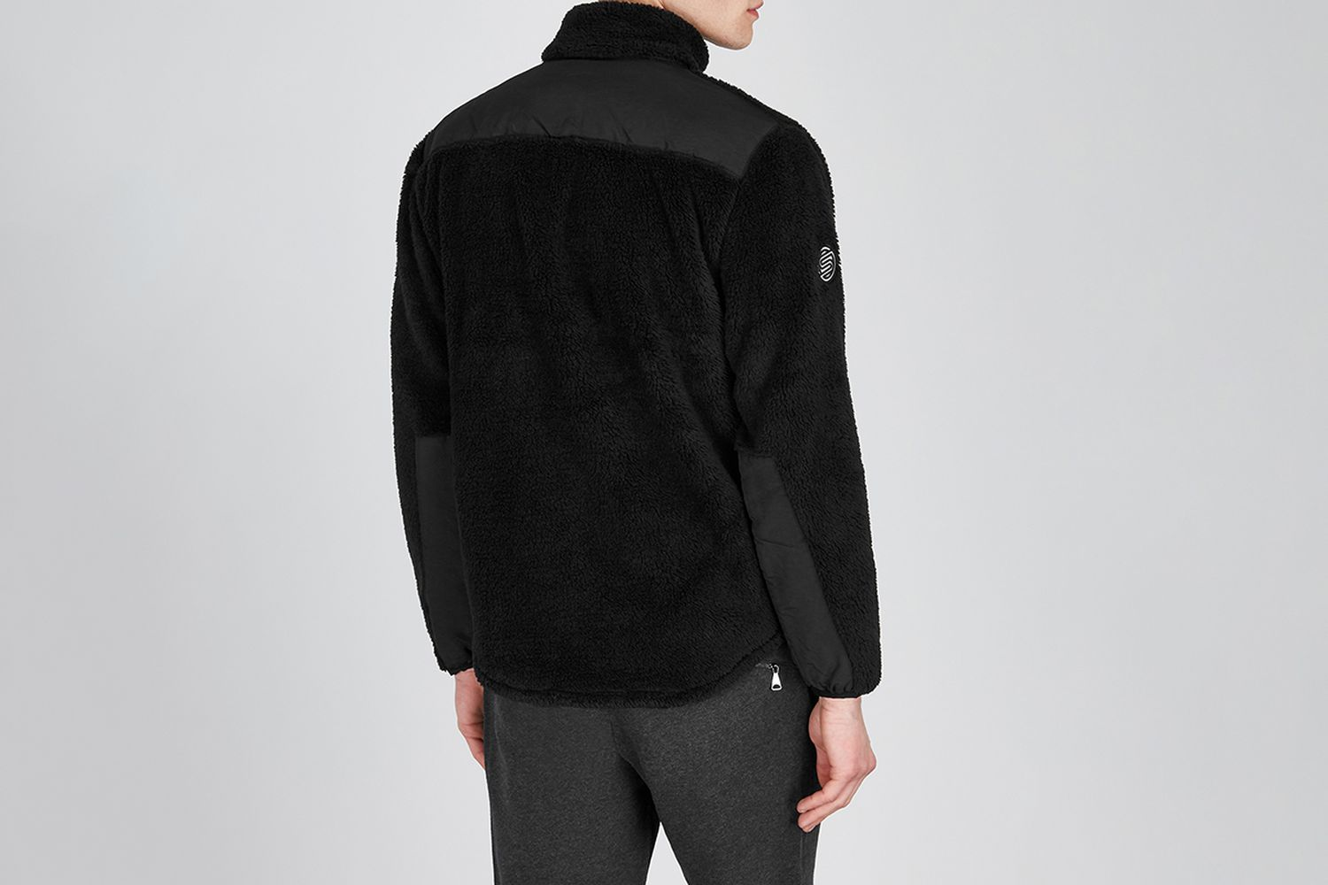 Panelled Fleece Sweatshirt