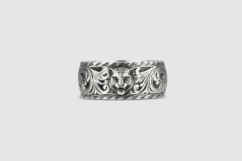 Feline Head Ring