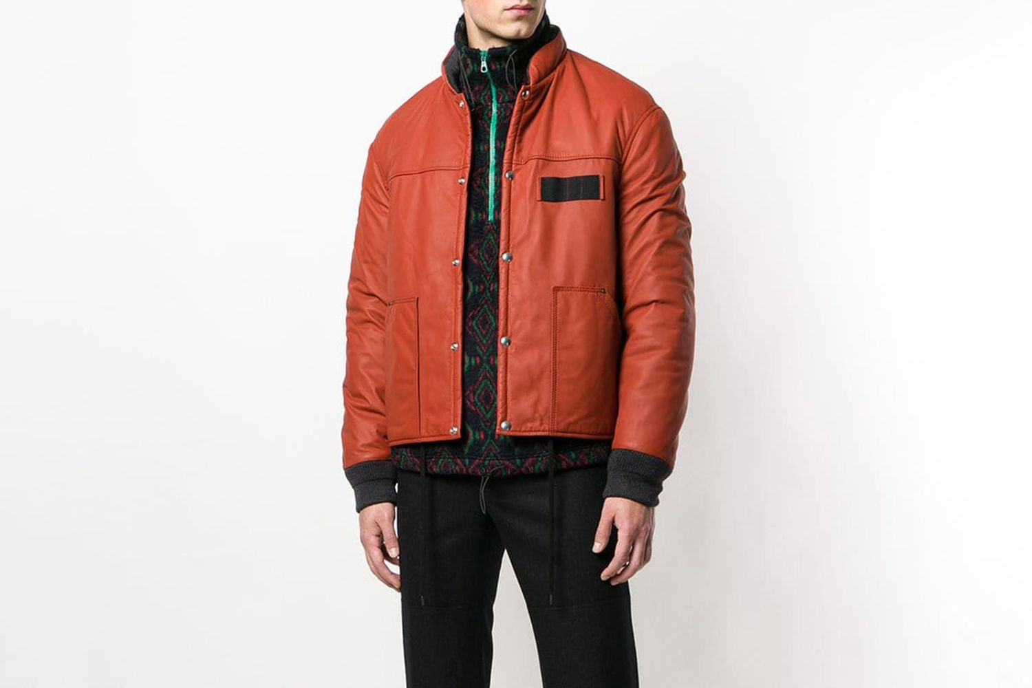 Loose Leather Bomber