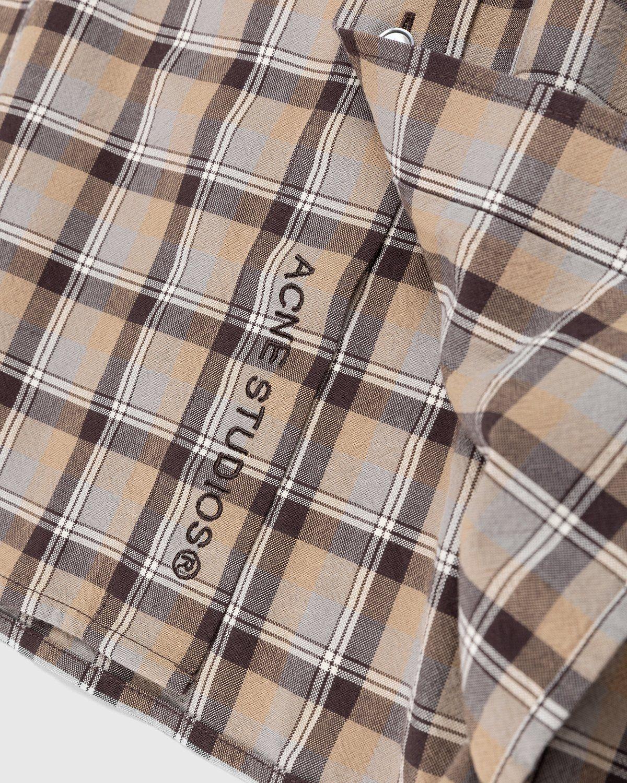 Acne Studios – Checked Shirt Brown - Image 3