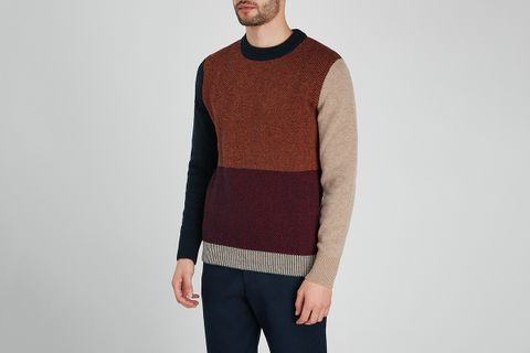 Blenheim Colour-Blocked Wool Jumper