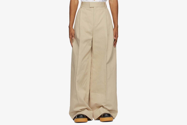 Heavy Twill Wide-Leg Trousers