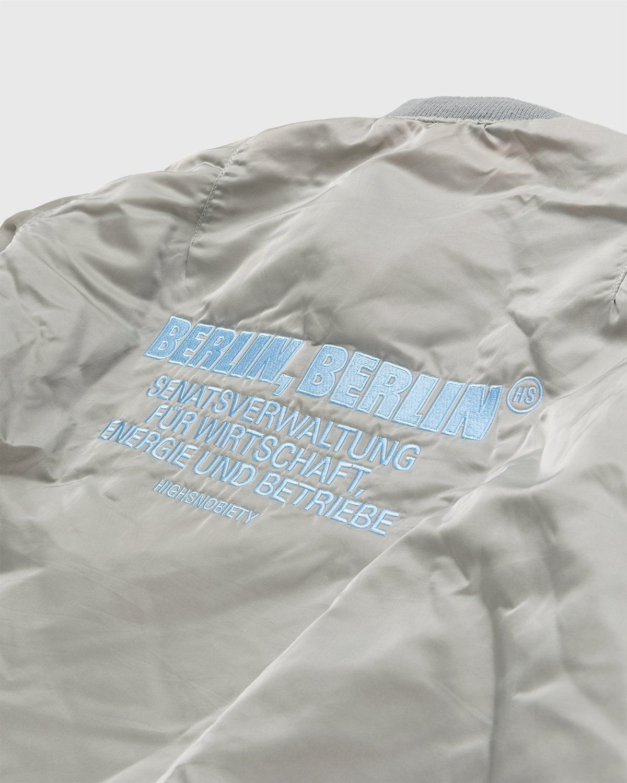 Highsnobiety – Berlin Berlin Embroidered Vintage MA-1 Grey - Image 3