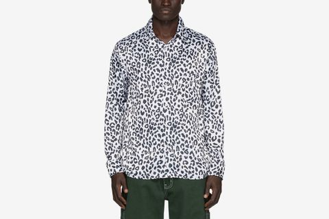 Charmeuse Leopard Shirt