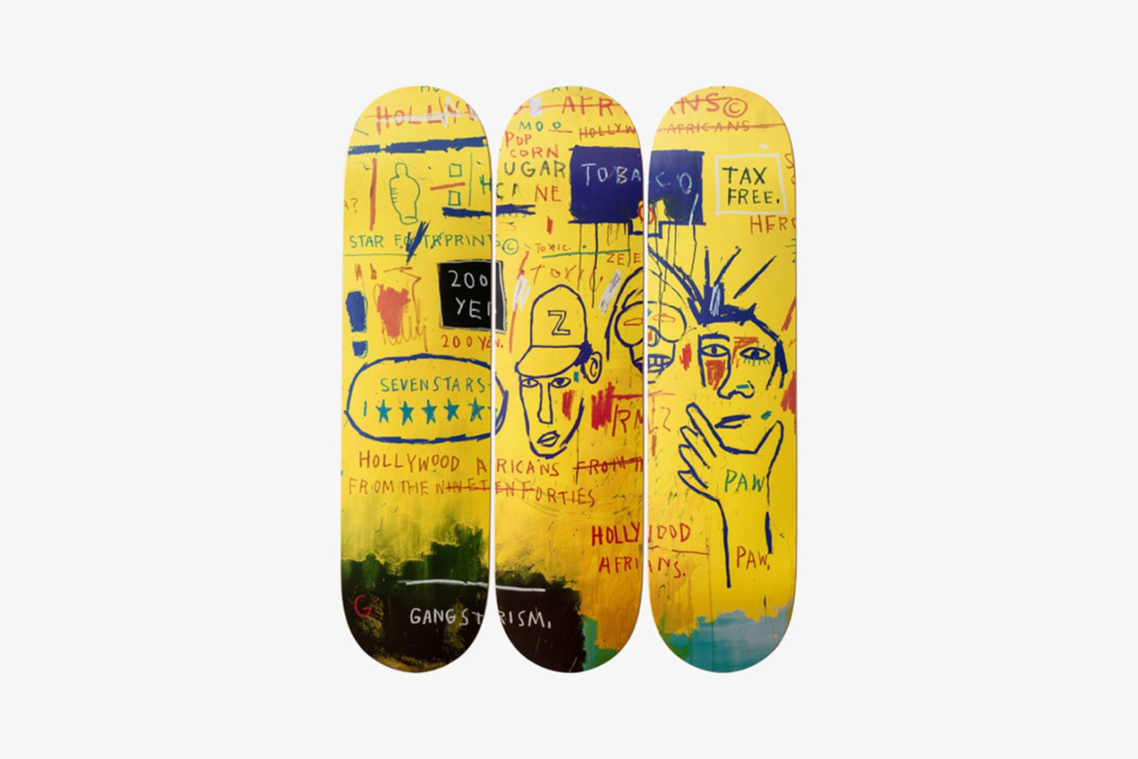 jmb decks main Jean-Michel Basquiat Estate the skateroom