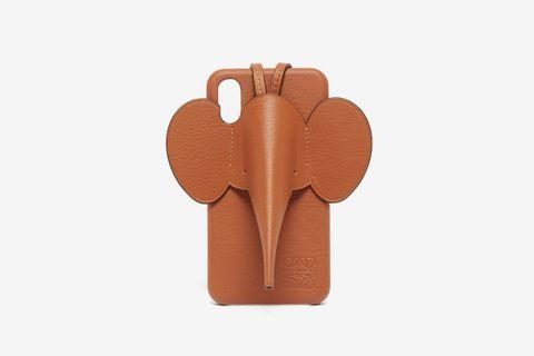 Elephant iPhone XS Max Leather Phone Case