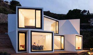 "The Modernist Cubic ""Sunflower House"" with Stunning Mediterranean Views"