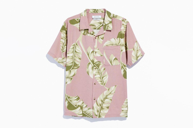 Palm Linen Short Sleeve Button-Down Shirt