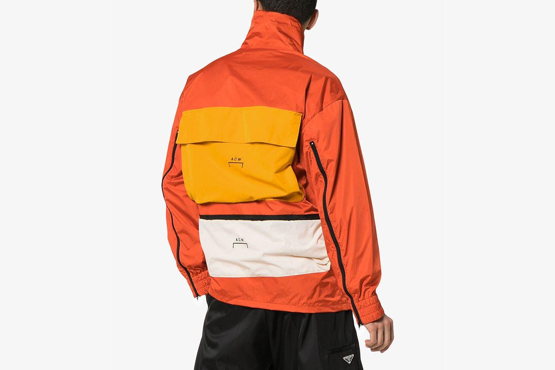 Logo Print Asymmetric Jacket