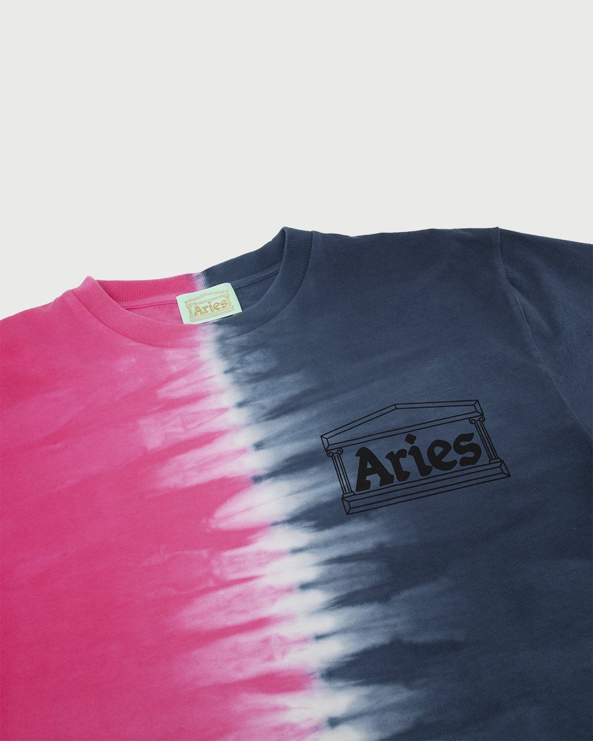 Aries - Tie Dye Half and Half Tee Blue/Fuchsia - Image 2