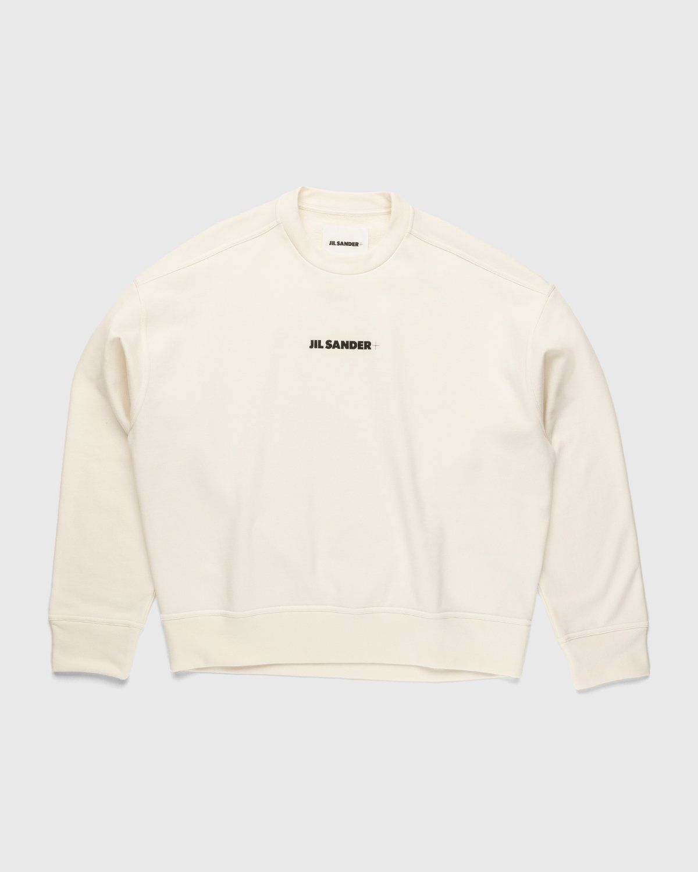 Jil Sander – Logo Sweater Natural - Image 1