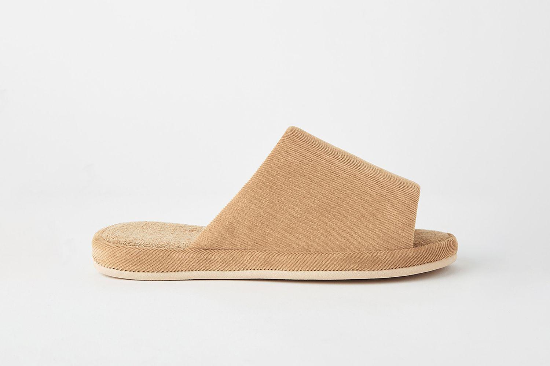 Open Toe Corduroy Slippers