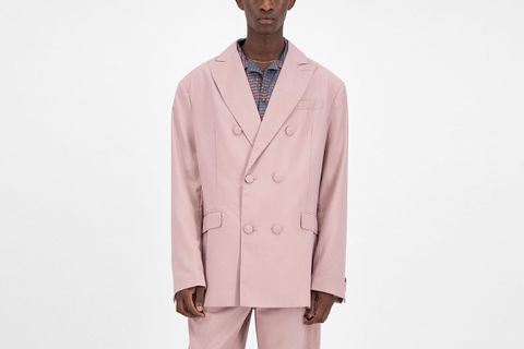 Old Pink Oversized Fecker Blazer