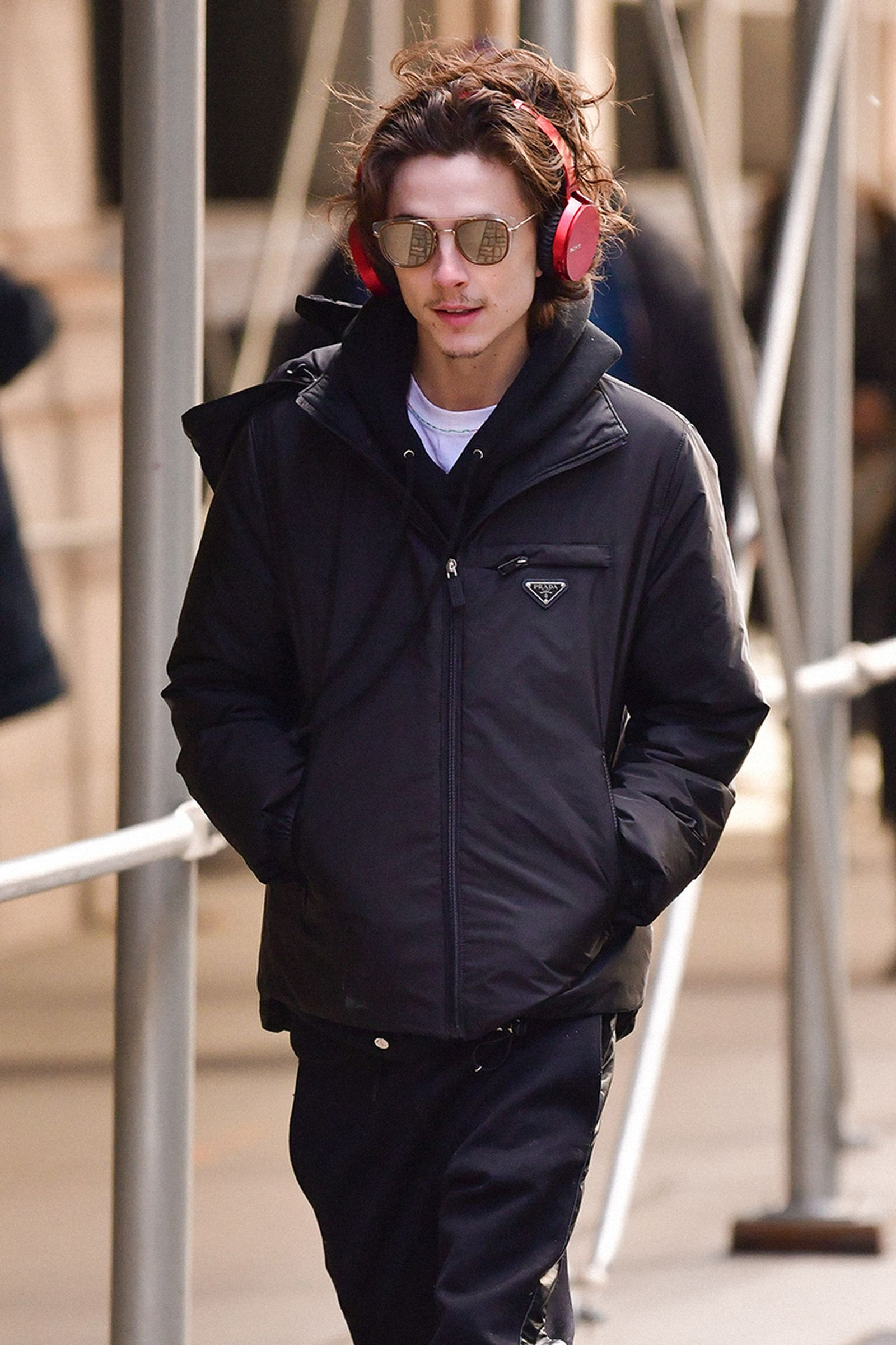 Timothee Chalamet seen on the streets of Manhattan on January 8, 2020 in New York City.