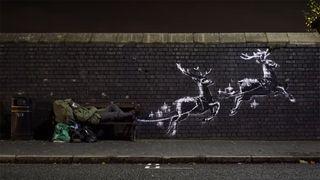 Banksy reindeer mural