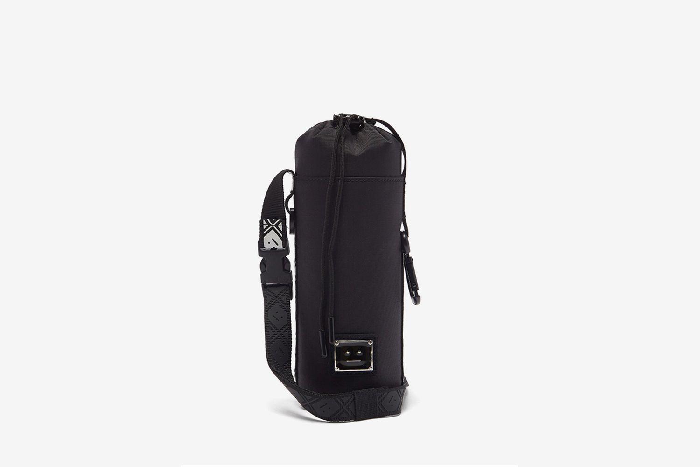 Face-Plaque Technical-Ripstop Cross-Body Bag