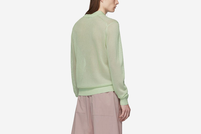 SSENSE Exclusive Mesh Long Sleeve Polo