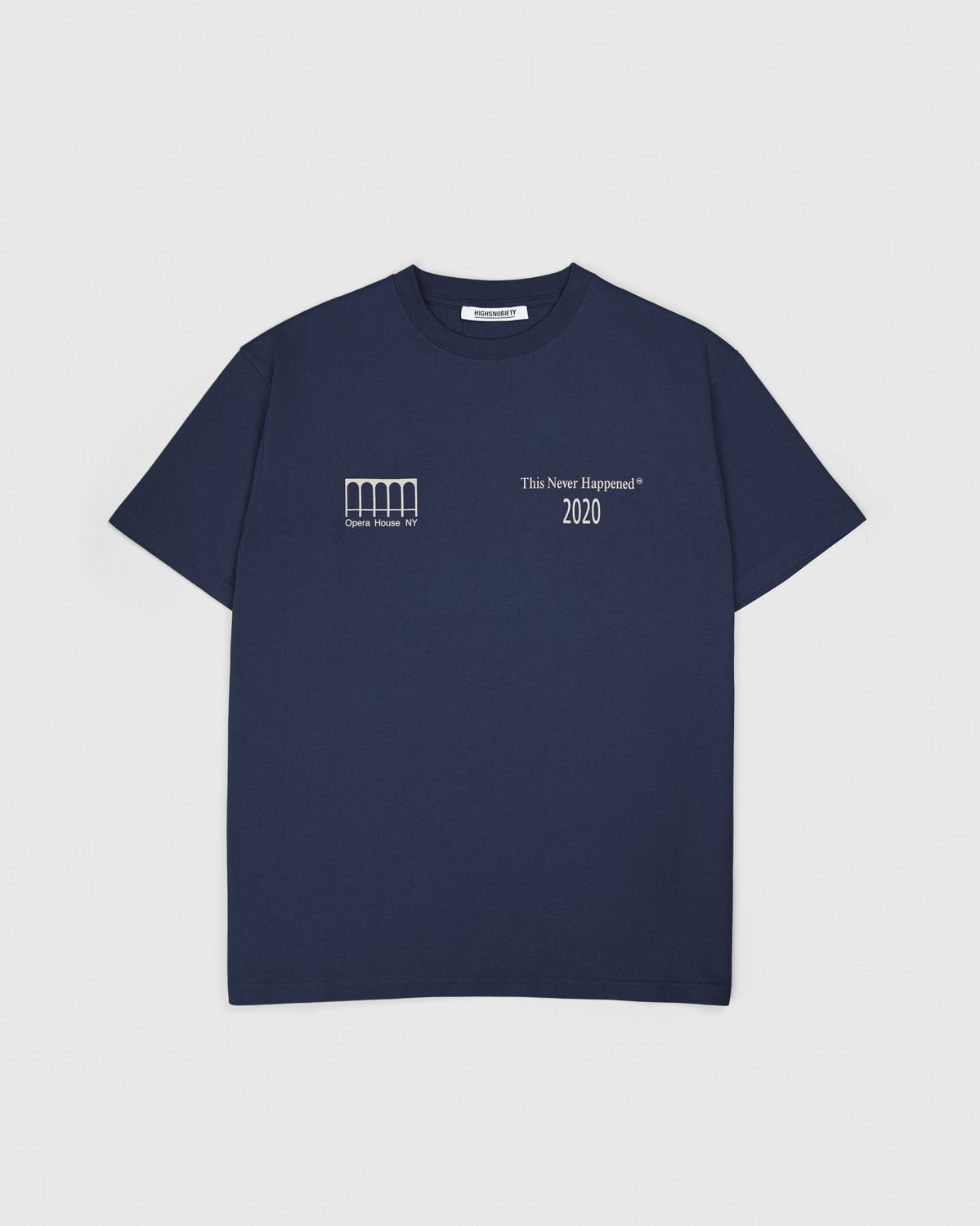Highsnobiety —This Never Happened Opera T-Shirt Navy - Image 2