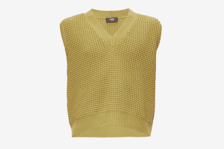 V-Neck Cashmere Sleeveless Sweater