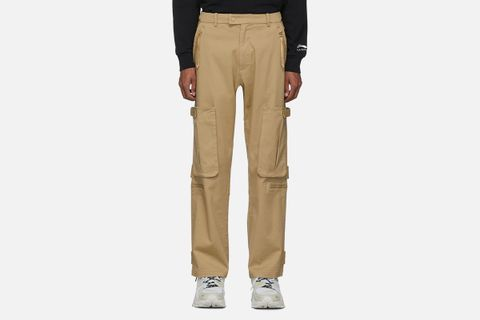 Tan Loose Fit Cargo Pants