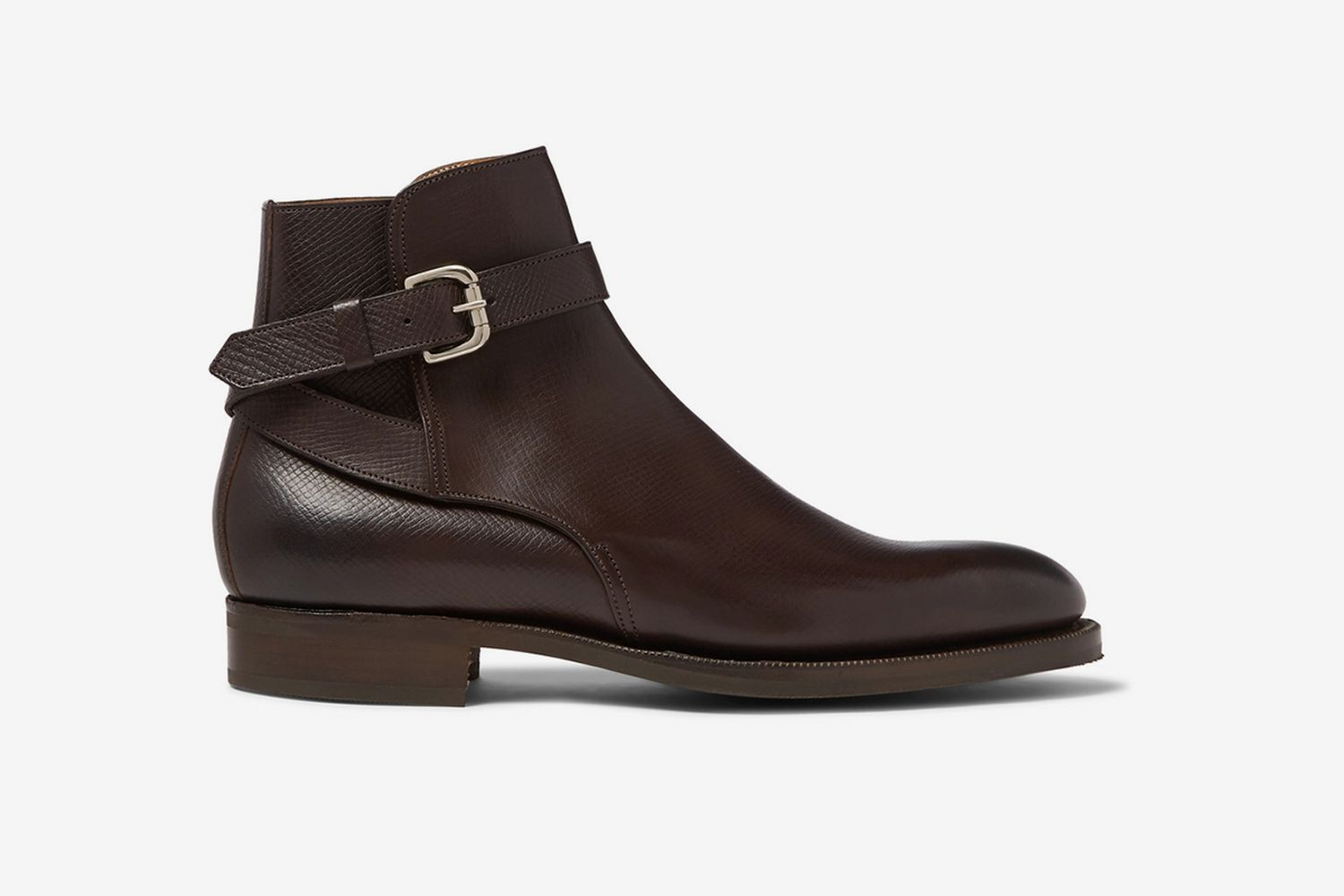Lambourne Textured-Leather Boots