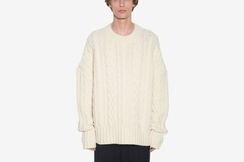 Oversize Wool Knit Sweater