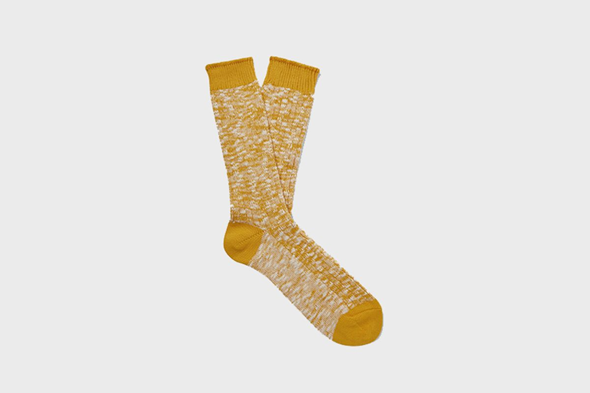 Ribbed Mélange Cotton-Blend Socks