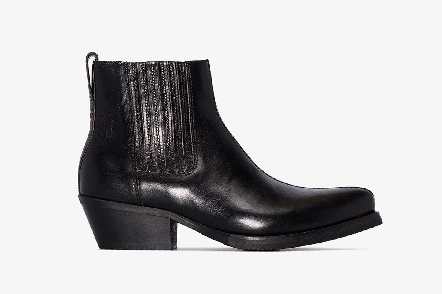Worn-In Centre Leather Boots
