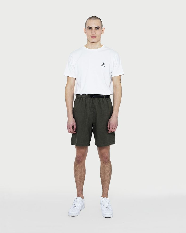 Gramicci — Linen Cotton G-Shorts Olive