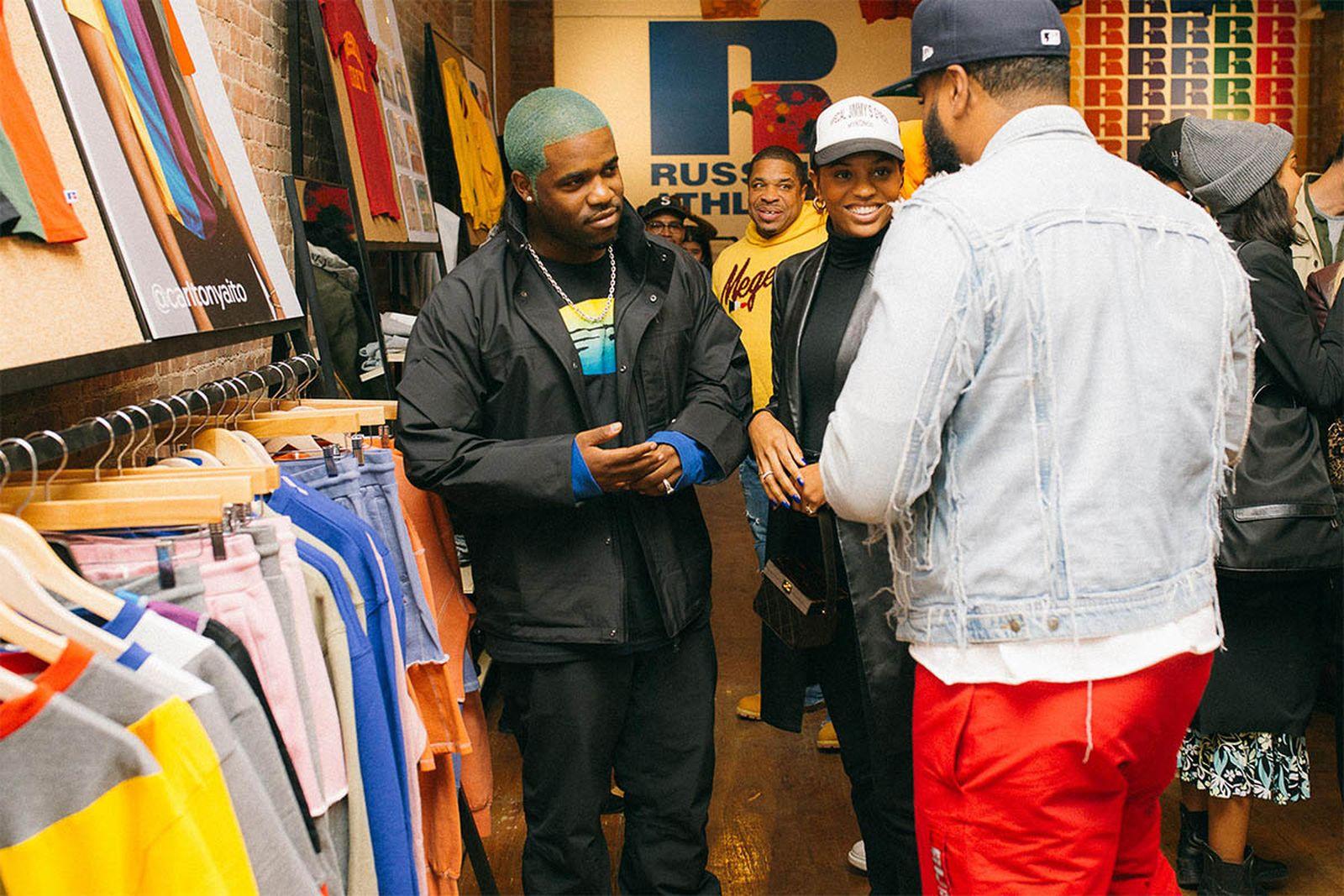 A$AP Ferg visits the pop-up.