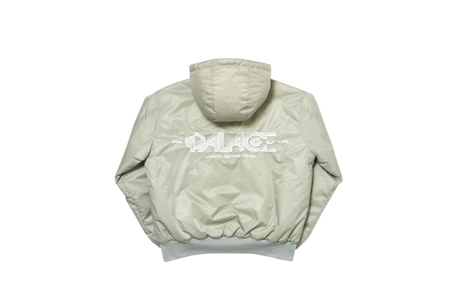 Palace 2019 Autumn jacket Obsission silver front fw19