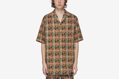 G Print Short Sleeve Shirt