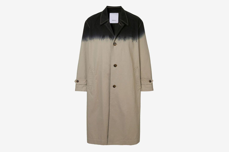 Dip Dye Trench Coat