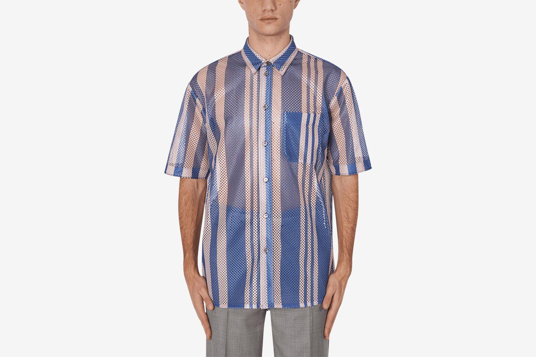 Institute Striped Mesh Shirt