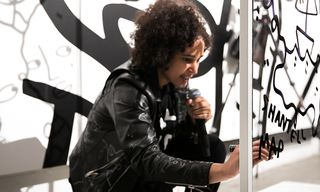 Here's What Went Down at the 1800 Tequila x Shantell Martin Live Art Show Last Night