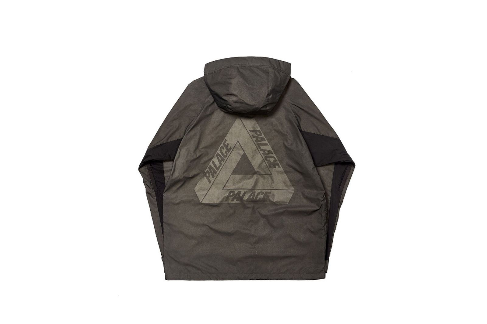 Palace 2019 Autumn Jacket Deflector grey back fw19