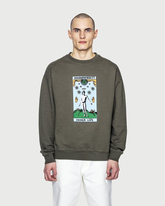 Inner Life by Highsnobiety - Sweatshirt Light Military Green - Image 2