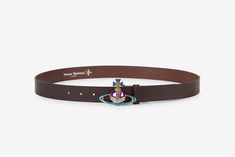 Orb-Embellished Leather Belt