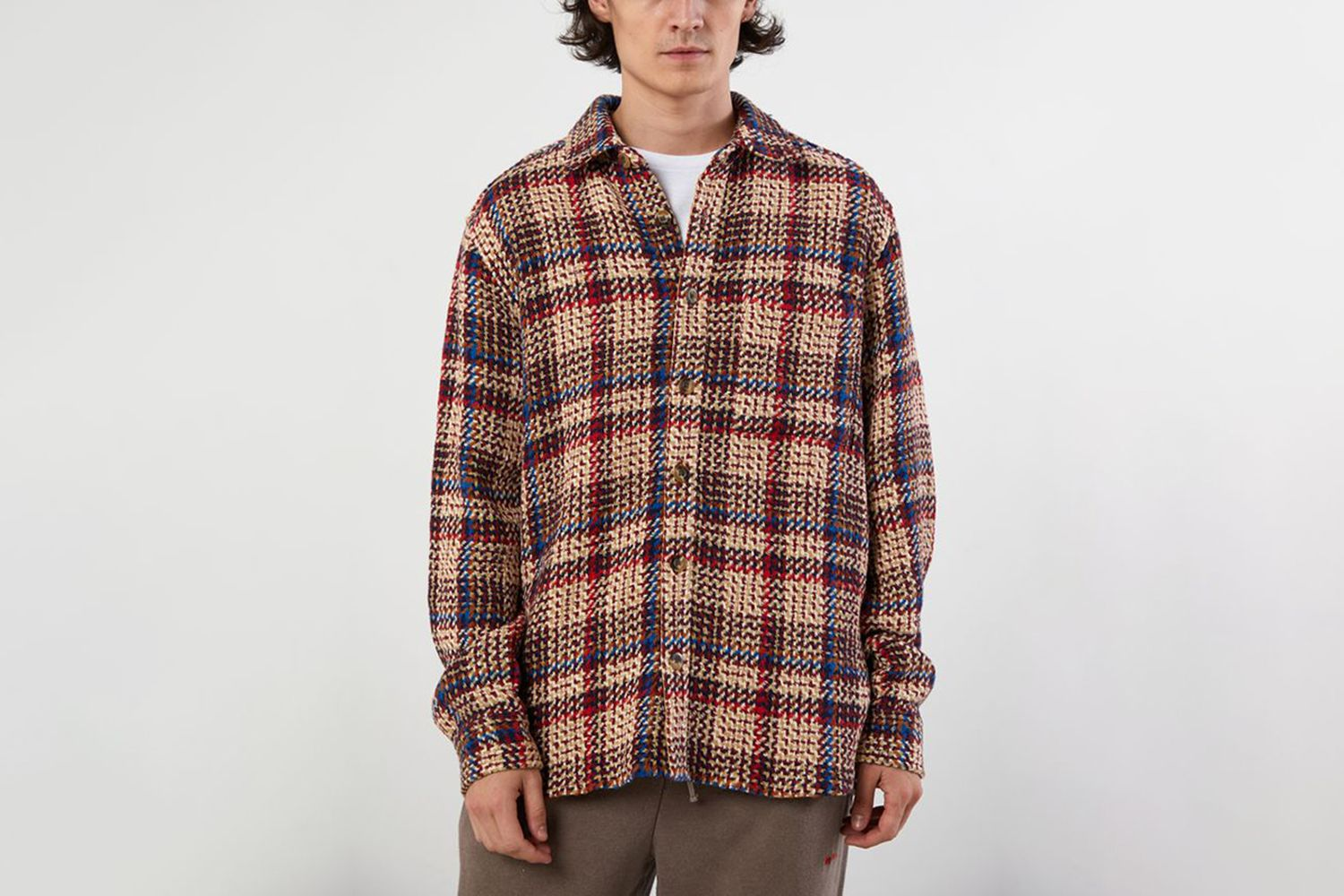 Plaid Exploded Twill Button-Down Shirt