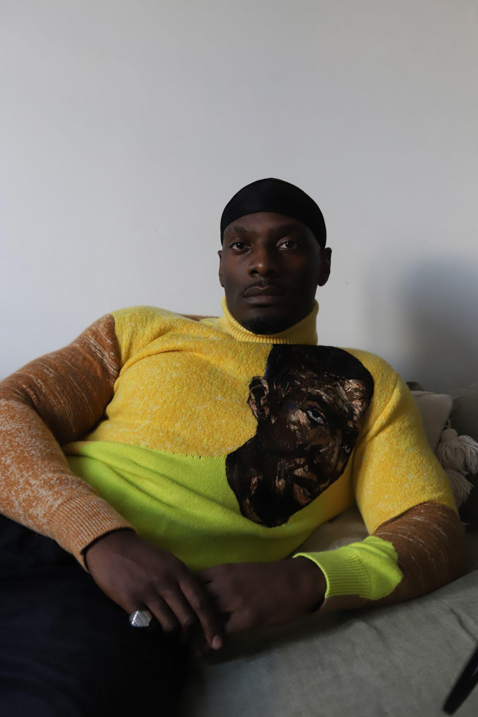 turtleneck cashmere jumper & pants  DIOR & AMOAKO BOAFO durag personal