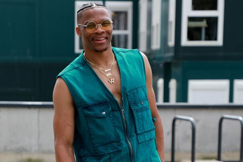 Russell Westbrook wearing acne studios