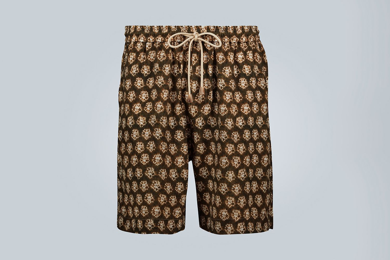 Tie-Dye Print Shorts
