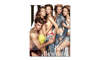 Kate Moss, Lara Stone and Daria Werbowy Cover 'W' Magazine