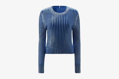 Intarsia Ribbed Sweater