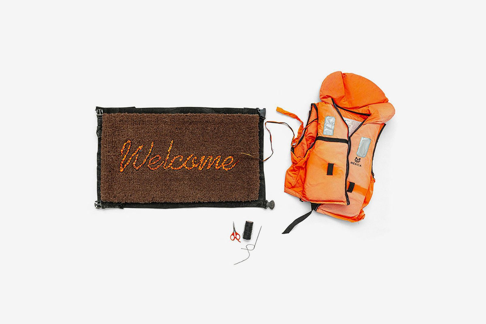 Banksy Gross Domestic Product welcome mat