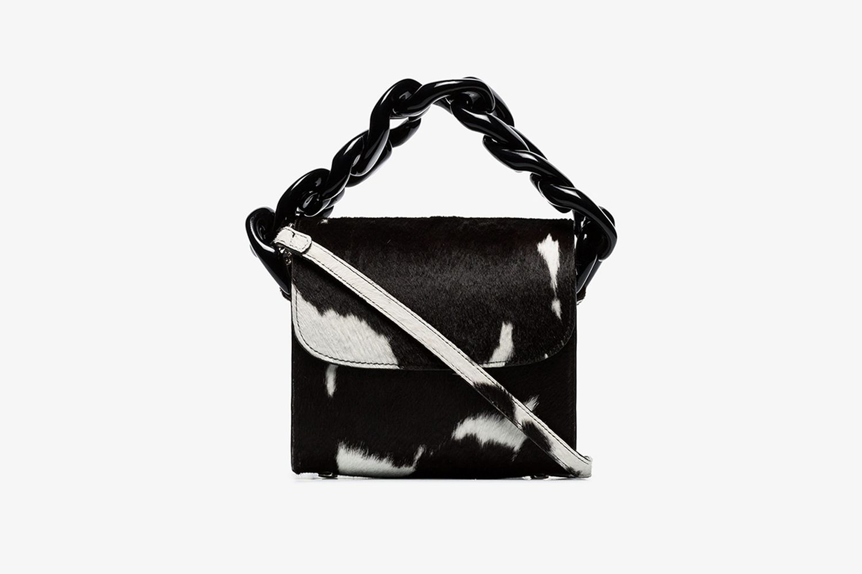 Cow Print Leather Shoulder Bag