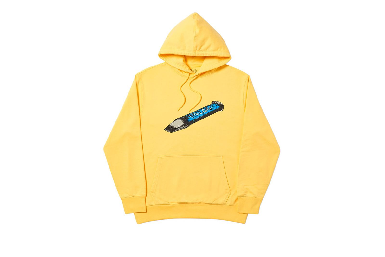 Palace 2019 Autumn Hood Chizzle Up yellow front