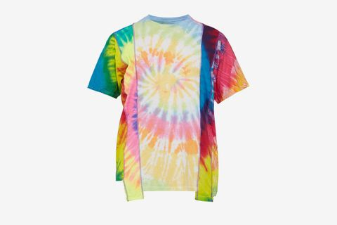 Psychedelic-Panel Cotton T-shirt
