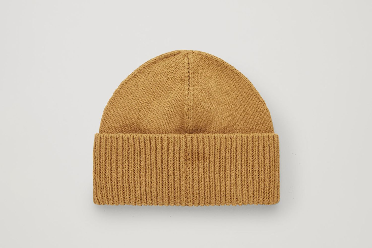 Cotton-Knit Fold-Over Hat
