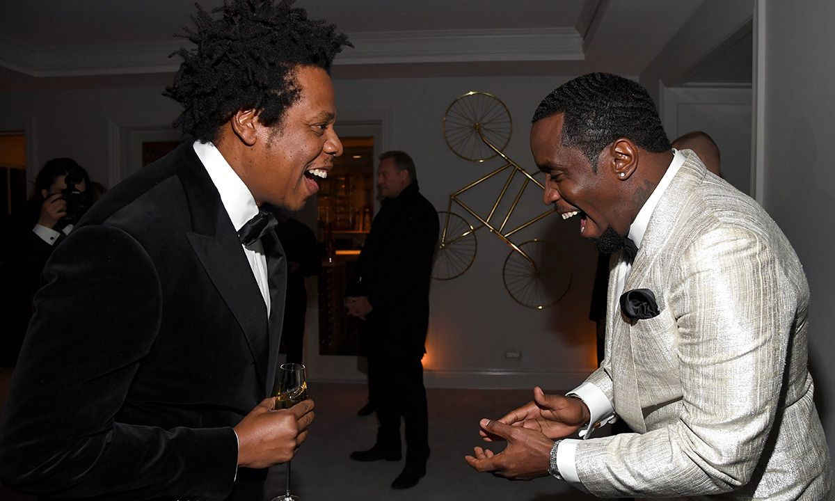 Kanye West & JAY-Z Reunited at Diddy's Star-Studded 50th Birthday Party